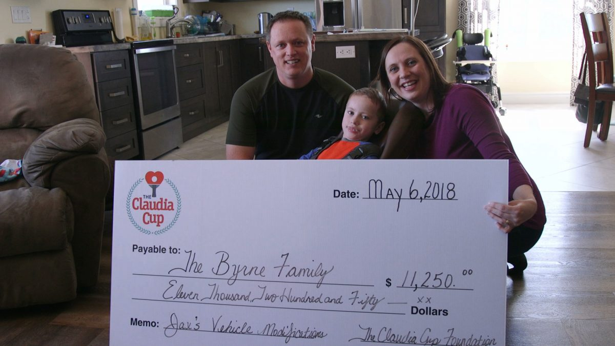 The Claudia Cup Foundation Visit The Byrne Family