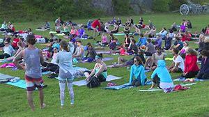 Moksha Yoga's Sunset Savasana